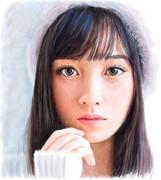 デジタル似顔絵「橋本環奈さん」