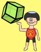 菱形十二面体と金太郎