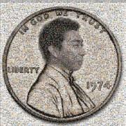 1セントピッコイン フォトモザイク