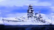 白亜の、戦艦「長門」に・・・