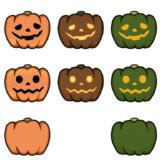 【コモンズ】ハロウィンのかぼちゃ【素材】