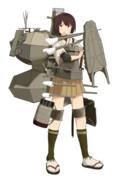 Hachiキャラ素材:艦隊これくしょん 日向