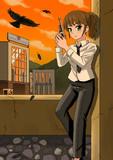 拳銃と少女。