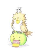 カエルと鷹ちゃん
