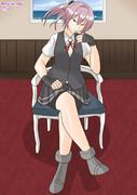 椅子の座り方がかっこいい不知火