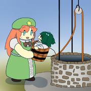 井戸水を汲み上げてみたらキスメだった美鈴