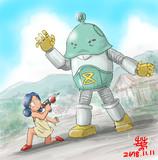 妖怪ロボ「イヤーナラティブ・ミルーナ」を迎え撃つスンちゃん