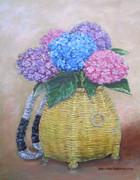 籠に入った紫陽花