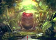 荒廃した世界に巨大蛙