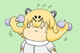 もみあげ筋を鍛えるジャガーちゃん
