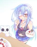 ケーキ食べてるうちの子