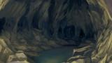 背景:洞窟内部