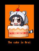 The cake is Arai