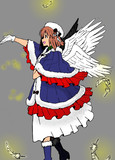 【塗り絵】大天使 雪歩さん