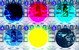 水球エフェクト 色の設定値(参考用)