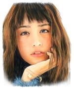 デジタル似顔絵「山本美月さん」