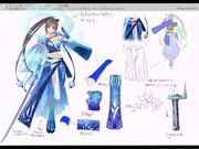 ②水、氷の精霊装束