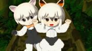 【GIFアニメ】なかよしW威嚇ぅー!