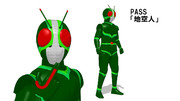 【MMDモデル配布】仮面ライダーJ【1.1更新】