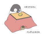 コタツでペンギン