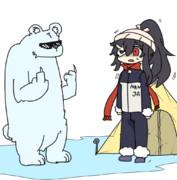北極でシロクマに遭う暁