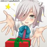 「朝霜にプレゼント」