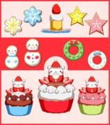 【MMD】Xmasケーキ&クッキーセット【アクセサリ配布】