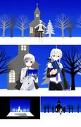 ポップアップ式クリスマス・カード【MMDアクセサリー配布】