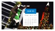 カレンダープロジェクト2019・1月