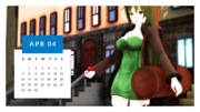 カレンダープロジェクト2019・4月