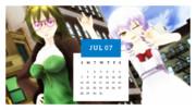 カレンダープロジェクト2019・7月