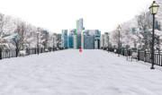 【MMDステージ配布あり】雪の公園