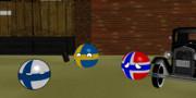 三匹の北欧ボール