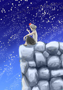 夜空とクソ犬☆