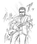 ベースを弾くアルフィーの桜井賢