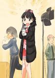 プロデューサーを見つけて嬉しそうな様子の寒い中衣装で待機中福山舞ちゃん。