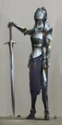 装備を新調した女騎士