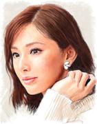 デジタル似顔絵「北川景子さん」