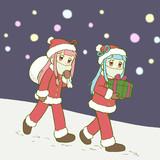 クリスマスが近づいてきた感じの琴葉姉妹