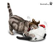 逆襲の猫トナカイ