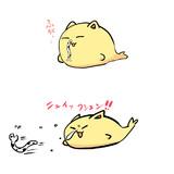 【悲報】ねこどるふぃん、鼻の穴にウナギが刺さる。