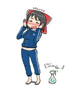 RIくんの体操着を着て喜ぶSNNN姉貴