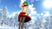 冬の森林散歩を楽しむ幽香さん