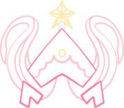 魔法少女リリカのシンボルマーク【色塗り】