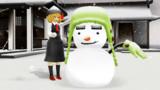 雪だるまを作るのだ~