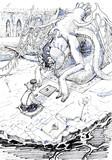 オセロで遊ぶ鳩羽つぐとエーブリエタース