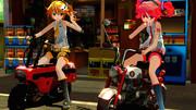 【第三回MMD静止画祭】ちっちゃいバイクと駄菓子屋