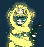 クリスマスなアース様とギドラ