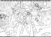2B鉛筆で結月ゆかり描いてみた【その45】+線画