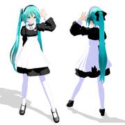 【MMDモデル配布】ままま式あぴミクメイド_大人Ver